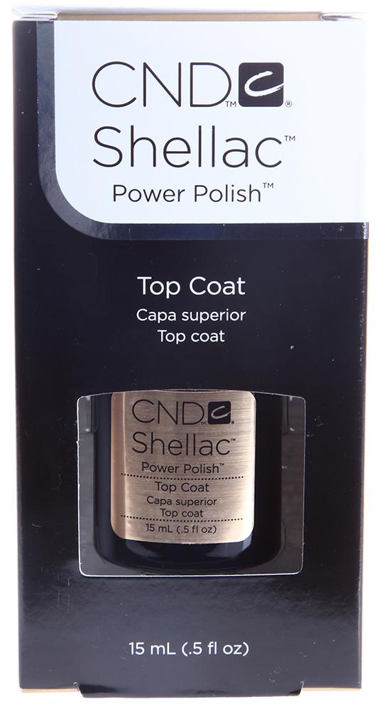 CND Покрытие верхнее / UV Top Coat SHELLAC 15млВерхние покрытия<br>Чтобы ваш маникюр в течение 2-х недель сохранился в первозданном виде и поражал окружающих своей безупречностью, как будто вы только что вышли из салона, необходим последний штрих - Верхние покрытие UV Top Coat Shellac. Оно является обязательным завершающим этапом в Шеллак-системе и обеспечивает надежную защиту от царапин, сколов, солнечных лучей, а также придает ногтям дополнительный глянцевый блеск. После нанесения Верхнего покрытия UV Top Coat Шеллак ваш маникюр будет надежно защищен от внешних воздействий в течение 2-х недель. Изумительно блеск подчеркнет красоту и безупречность маникюра.   Активные ингредиенты: Не содержит толуол, дибутилфталат (DBP), формальдегид и его смолы. Способ применения: После нанесения и высыхания цветного гелевого покрытия Shellac нанесите Верхние покрытие UV Top Coat. Для этого воспользуйтесь кисточкой. Средство полимеризуется в УФ-лампе в течение 2-х минут.<br><br>Виды лака: Глянцевые<br>Типы ногтей: Нормальные