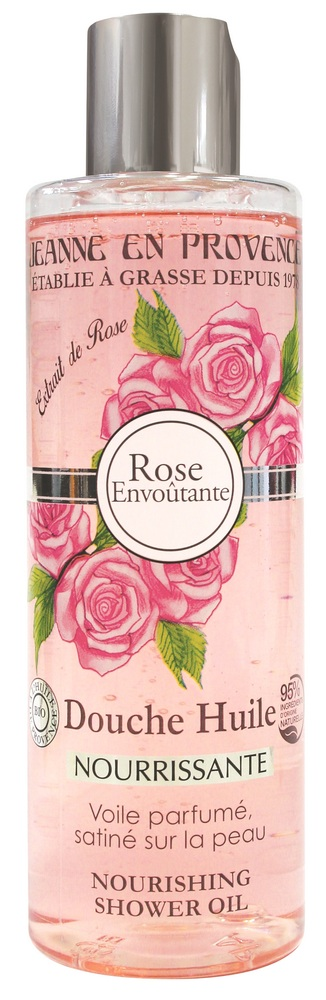Купить JEANNE EN PROVENCE Масло питательное для душа Пленительная роза 250 мл