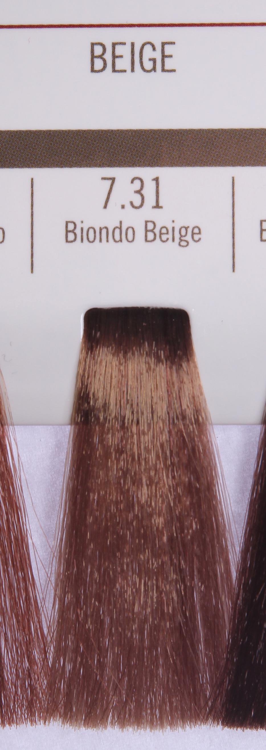 BAREX 7.31 краска для волос / PERMESSE 100млКраски<br>Оттенок: Блондин бежевый. Профессиональная крем-краска Permesse отличается низким содержанием аммиака - от 1 до 1,5%. Обеспечивает блестящий и натуральный косметический цвет, 100% покрытие седых волос, идеальное осветление, стойкость и насыщенность цвета до следующего окрашивания. Комплекс сертифицированных органических пептидов M4, входящих в состав, действует с момента нанесения, увлажняя волосы, придавая им прочность и защиту. Пептиды избирательно оседают в самых поврежденных участках волоса, восстанавливая и защищая их. Масло карите оказывает смягчающее и успокаивающее действие. Комплекс пептидов и масло карите стимулируют проникновение пигментов вглубь структуры волоса, придавая им здоровый вид, блеск и долговечность косметическому цвету. Активные ингредиенты:&amp;nbsp;Сертифицированные органические пептиды М4 - пептиды овса, бразильского ореха, сои и пшеницы, объединенные в полифункциональный комплекс, придающий прочность окрашенным волосам, увлажняющий и защищающий их. Сертифицированное органическое масло карите (масло ши) - богато жирными кислотами, экстрагируется из ореха африканского дерева карите. Оказывает смягчающий и целебный эффект на кожу и волосы, широко применяется в косметической индустрии. Масло карите защищает волосы от неблагоприятного воздействия внешней среды, интенсивно увлажняет кожу и волосы, т.к. обладает высокой степенью абсорбции, не забивает поры. Способ применения:&amp;nbsp;Крем-краска готовится в смеси с Молочком-оксигентом Permesse 10/20/30/40 объемов в соотношении 1:1 (например, 50 мл крем-краски + 50 мл молочка-оксигента). Молочко-оксигент работает в сочетании с крем-краской и гарантирует идеальное проявление краски. Тюбик крем-краски Permesse содержит 100 мл продукта, количество, достаточное для 2 полных нанесений. Всегда надевайте подходящие специальные перчатки перед подготовкой и нанесением краски. Подготавливайте смесь крем-краски и молочка-оксигента Permesse в неметалличе