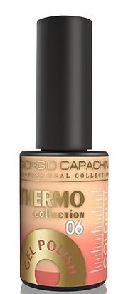 Купить GIORGIO CAPACHINI 06 гель-лак трехфазный для ногтей / Thermo 7 мл, Оранжевые