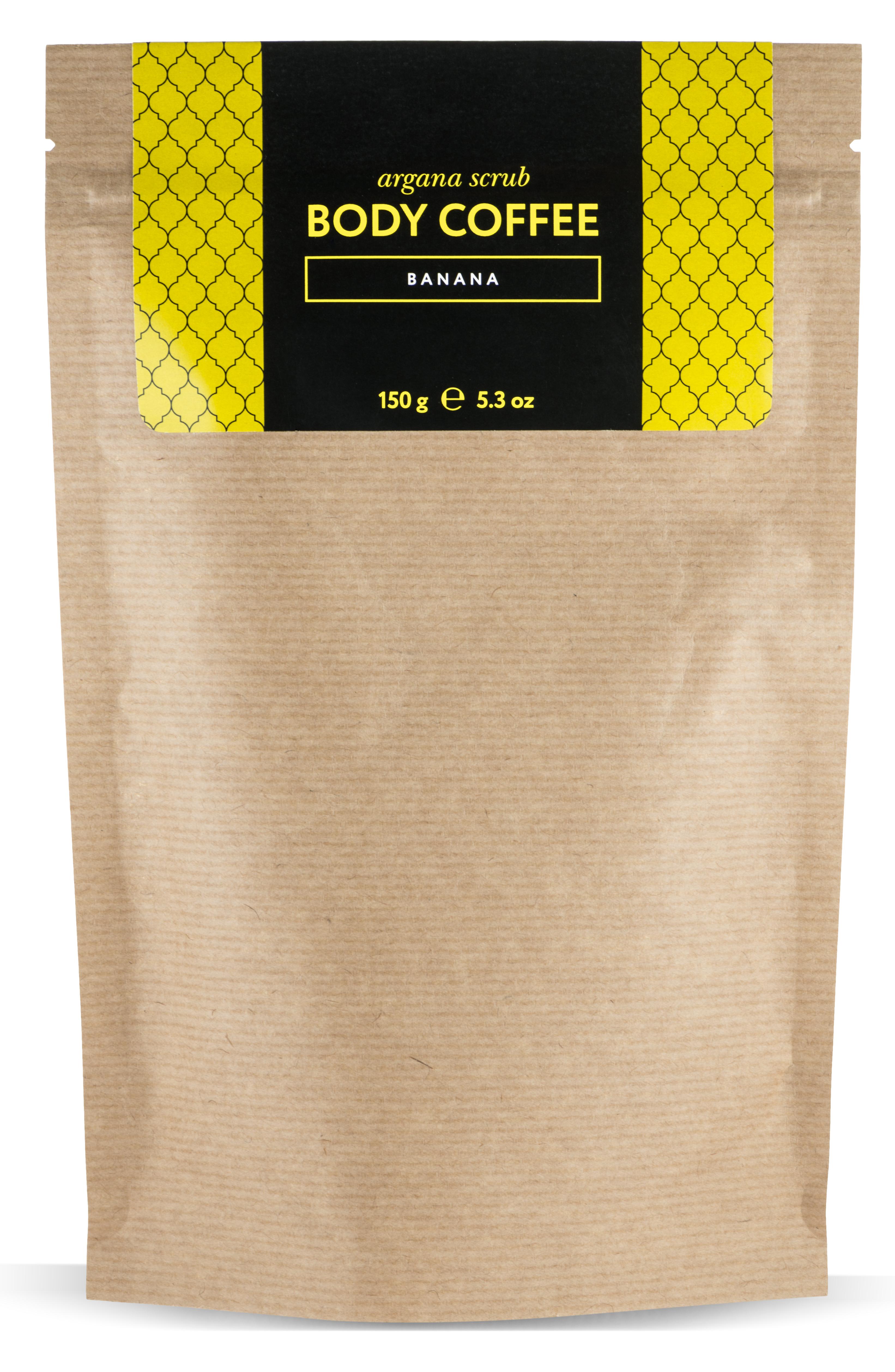 HUILARGAN Скраб аргановый кофейный для тела, банан 150 г