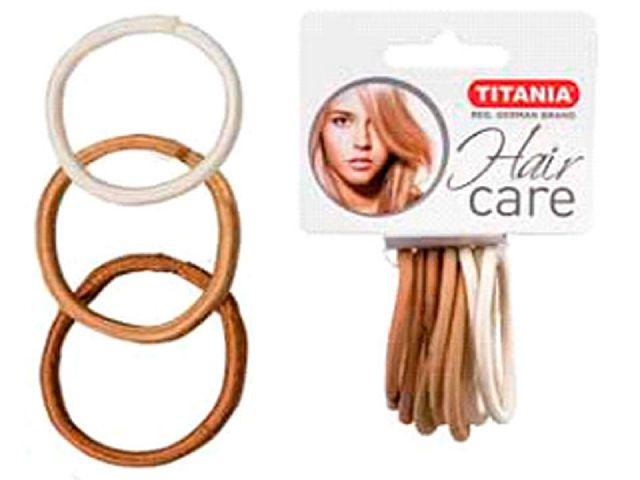 TITANIA Резинки для волос, 3 цвета светлые 5 см 9 шт/уп 7811