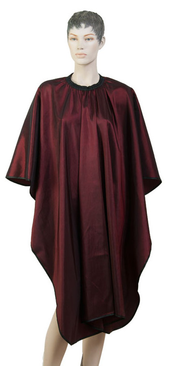 DEWAL PROFESSIONAL Пеньюар для стрижки Глянец, полиэстер, на крючках, красный 128х146 см