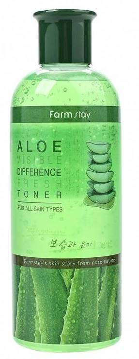 FARMSTAY Тонер освежающий с экстрактом алоэ 350 мл