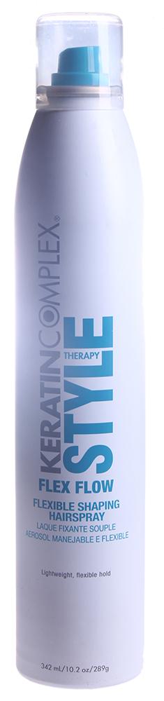 KERATIN COMPLEX Лак для волос средней фиксации / Flex Flow 289млЛаки<br>Специальный белок кератина в составе средства укрепляет волосы. УФ-стойкие компоненты обеспечивают защиту волоса от солнца. Средняя фиксация позволяет сохранить укладку надолго. Активные ингредиенты: белок кератина. Способ применения: для наилучшего результата удерживайте флакон на расстоянии 8-10 сантиметров от волос и наносите спрей короткими очередями. Для создания объема нанесите спрей между слоями волос у корней.<br>
