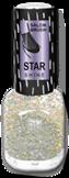 BRIGITTE BOTTIER Лак Star Shine стар шайн STS тон 424 серебряные блестки / Star Shine12млЛаки<br>Лак Star Shine Сияние Звезд - это еще раз дань непреходящей моде на лаки с блестками от Brigitte Bottier. И в наступающем сезоне они по-прежнему актуальны особенно в холодных оттенках звездного сияния. Для долговечности маникюра наносите его строго в соответствии со способом применения: Активные ингредиенты: бутилацетат, этилацетат, нитроцеллюлоза, ацетил трибутил цитрат, адипиновая кислота/неопентил гликоль/триметиловый сополимер ангидрида, спирт изоприловый, стирол/ сополимер акрилат, стеаралкониум бетонит, силика, Н-бутиловый спирт, бензофенон-1, диацетоновый спирт, триметилпентанедил дибензоата, полиэтилен, фосфорная кислота. Способ применения: 1) нанесите Base Coat, дождитесь полного высыхания; 2) нанесите первый слой лака Star Shine, дождитесь полного высыхания; 3) нанесите второй слой лака Star Shine, дождитесь полного высыхания; 4) нанесите Top Coat, дождитесь полного высыхания. Примечание 1: лак может использоваться и поверх цветного лака,помогая создавать модный и современный образ. Каждый раз новый. Примечание 2: для ускорения сушки рекомендуется использовать Супер сушку (Super Dry Top Coat) серии Galaxy или Каплю-сушку (Drop Super Dry Top Coat) от Brigitte Bottier.<br><br>Цвет: Белые<br>Виды лака: С блестками