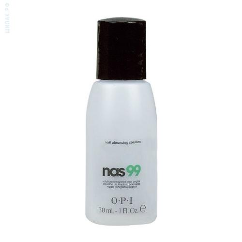 OPI Средство очищающее для ногтей с антисептическим эффектом / Nail Cleansing Solution 30млОсобые средства<br>Очищающее средство для ногтей с антисептическим эффектом НАС-99 OPI. Обязательно использовать для дезинфекции и обезжиривания ногтей, инструментов в процедурах маникюра и педикюра и моделирования искусственных ногтей. Содержит Тимол, предотвращающий развитие грибка ногтей и бактерий. Не содержит воды и удаляет излишки влаги и масла с поверхности ногтевой пластины. Способ применения: наносить препарат на ногти и инструменты с расстояния примерно в 15 см. Не допускать попадания препарата на типсы. Использовать как дезинфектор при любых процедурах. Беречь от нагрева и открытого огня. Плотно закрывать после использования. Вы можете приобрести этот антисептик-спрей для волос для ногтей NAS 99 в нашем интернет-магазине профессиональной косметики.<br><br>Объем: 30 мл