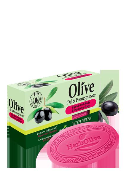 MADIS Мыло оливковое с гранатом / HerbOlive 90 г мыло косметическое rizes crete натуральное оливковое мыло с корицей