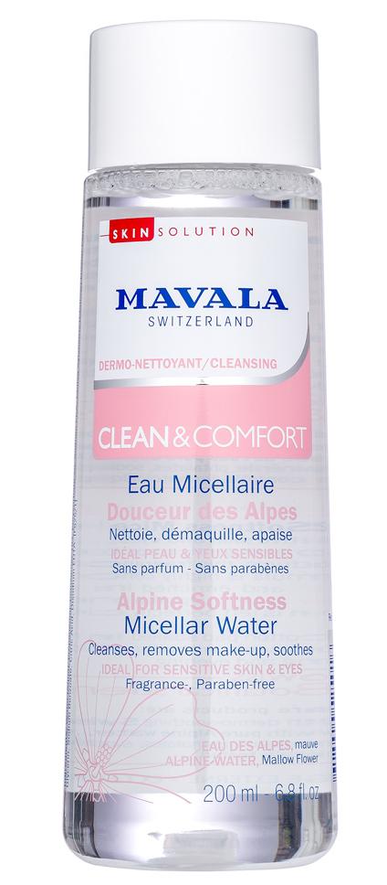 MAVALA Вода мицеллярная смягчающая альпийская / Clean & Comfort Alpine Softness Micellar Water 200 мл