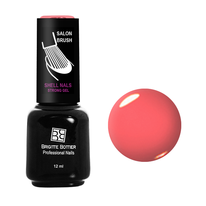 Купить BRIGITTE BOTTIER 904 гель-лак для ногтей, коралл / Shell Nails 12 мл, Розовые