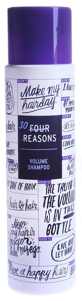KC PROFESSIONAL Шампунь для объема тонких волос / Volume Shampoo FOUR REASONS 300млШампуни<br>Этот шампунь специально создан для волос которые требуют объема, прочности и силы. Делает волосы более послушными, придает эластичность и внутреннюю силу каждому волоску. Успокаивает чувствительную кожу головы. Приятный цветочный аромат с оттенком ванили. Способ применения: нанесите на влажные волосы легкими массирующими движениями. Вспеньте. Смойте большим количеством воды.<br><br>Тип кожи головы: Чувствительная