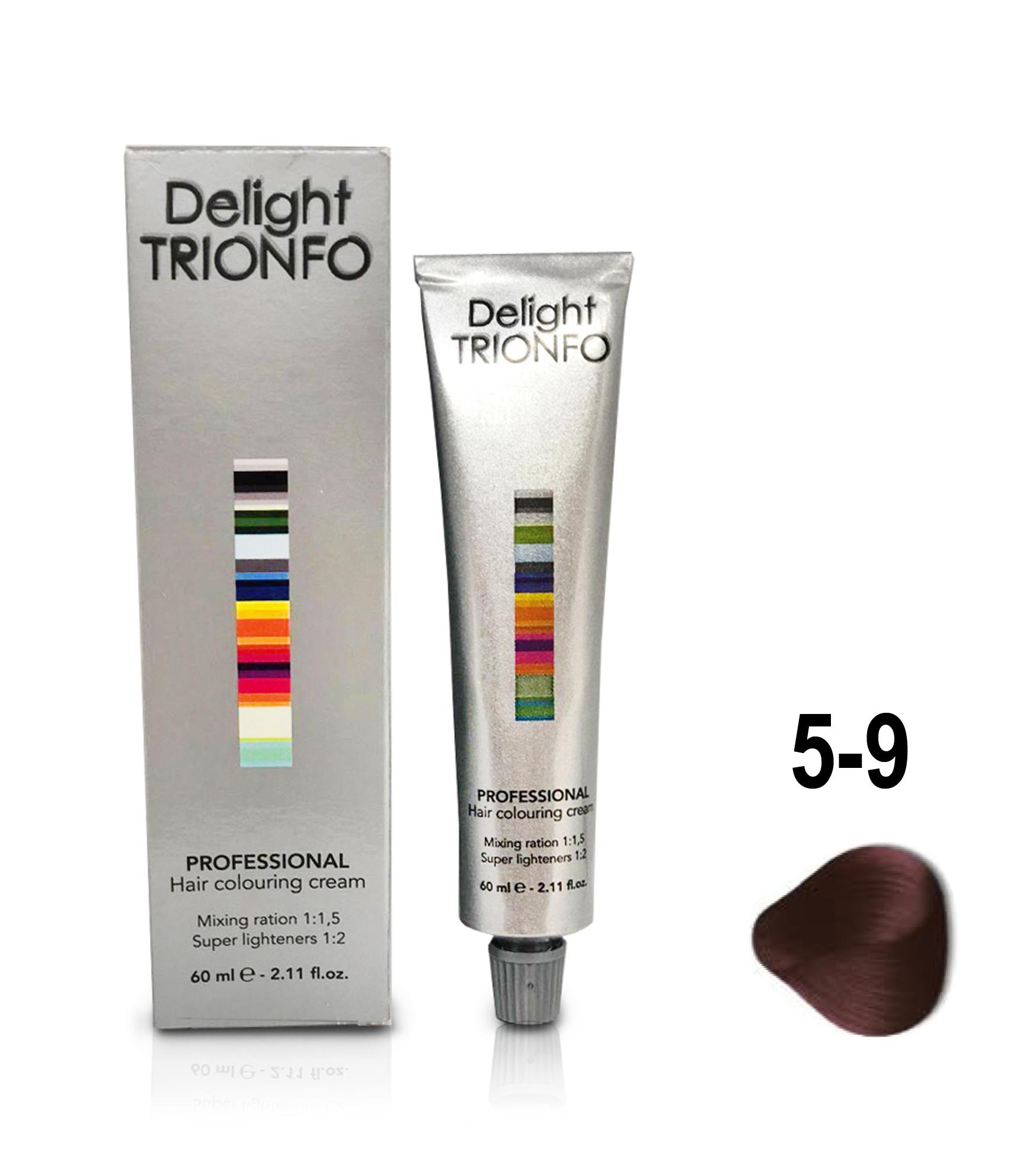 CONSTANT DELIGHT ДТ 5-9 крем-краска стойкая для волос, светло-коричневый фиолетовый / Delight TRIONFO 60 мл фото