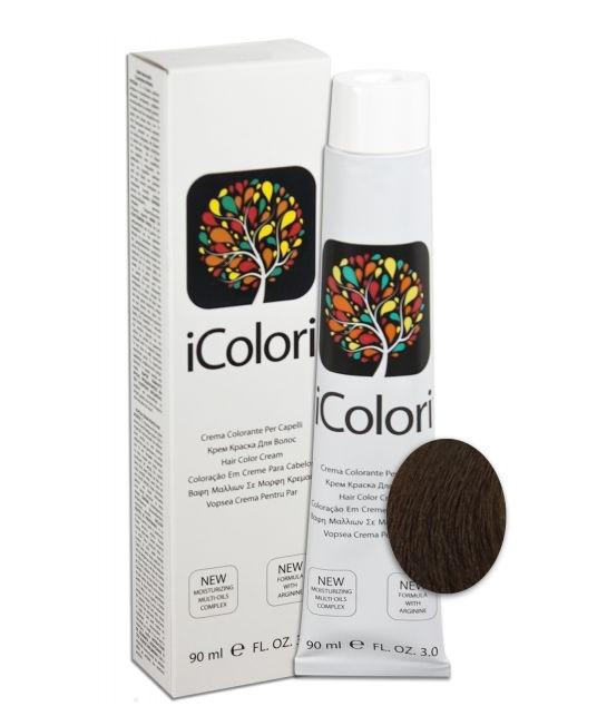 KAYPRO 6.03 краска для волос, темно-русый натуральный теплый / ICOLORI 90 мл
