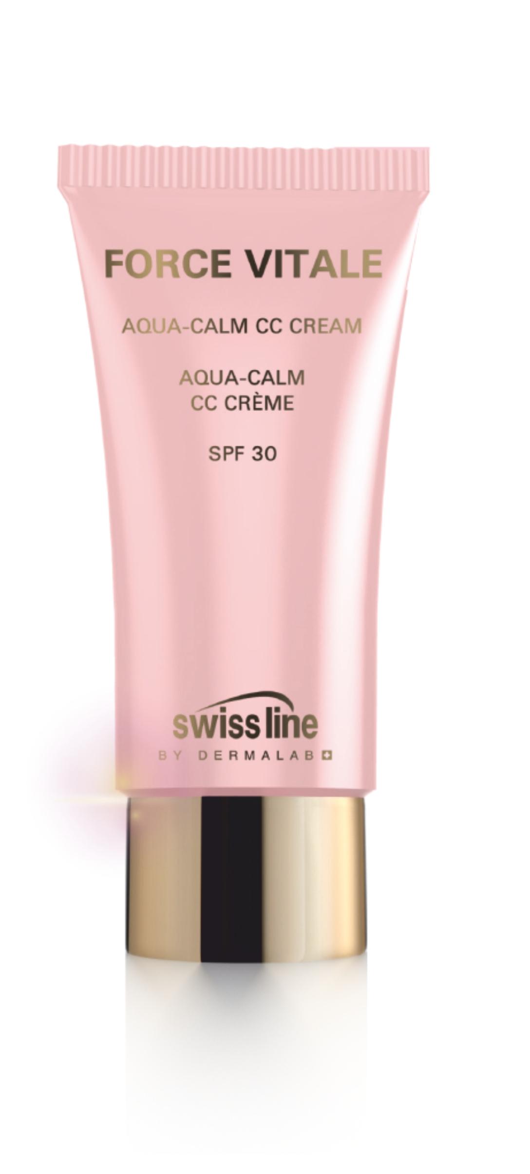 SWISS LINE Крем-СС успокаивающий увлажняющий для чувствительной кожи SPF 30 / Aqua-Calm CC cream 35 мл