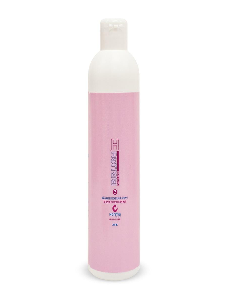 HONMA TOKYO Ботокс для волос без пигмента, интенсивный реконструктор для восстановления и разглаживания волос / H-brush Botox Capilar White Care 250 мл - Ботокс