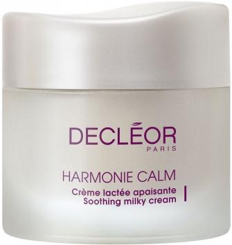 DECLEOR Лайт-крем успокаивающий / HARMONIE CALM ROSE DORIENT 50млКремы<br>Успокаивает кожу, уменьшает покраснения и чувство дискомфорта, обеспечивает длительное увлажнение, повышает защитные свойства кожи, защищает от агрессивного воздействия окружающей среды. Гипоаллергенное средство, не содержит парабенов, красителей и ароматизаторов. Без минеральных масел. Без спирта. Протестировано под дерматологическим контролем. Успокаивающий крем Decleor Soothing Milky Cream из линии Harmonie Calm разработан специально для женщин, которые обладают кожей с повышенной чувствительностью. Дневной крем идеально увлажняет и успокаивает кожу, снимает покраснения и уменьшает чувствительность. В результате кожа становится мягкой, гладкой и сияет здоровьем и чистотой. Дневной крем Decleor Soothing Milky Cream прекрасно подходит обладательницам нормальной и сухой кожи лица. Его насыщенная и свежая текстура мгновенно успокаивает кожу и дарит ей ощущение комфорта. Средство протестировано под дерматологическим контролем. РЕЗУЛЬТАТ: успокаивает кожу, делая ее нежной и мягкой, кожа без покраснений. Повышает защитные свойства кожи, защищает от агрессивного воздействия окружающей среды. Гипоаллергенно. Активные ингредиенты: экстракт коры белой березы и растительное молочко розы, которые входят в состав крема Decleor Soothing Milky Cream, устраняют чувство дискомфорта, успокаивают кожу и снимают покраснения, воздействуя непосредственно на причину раздражения. Комплекс из концентрированной розовой воды, полифенолов винограда и сосны, липидов хлопка, а также растительного молочка хлопка и лилии, одновременно увлажняет кожу и укрепляет ее защиту от вредных внешних воздействий. Экстракт зеленой макатии повышает порог чувствительности, а эфирное масло дамасской розы нежно успокаивает кожу и усиливает действие остальных ингредиентов. Кроме того, крем не вызывает аллергические реакции, так как не содержит парабенов, минеральных масел, спирта и красителей. Способ применения: нанесите утром на предварит