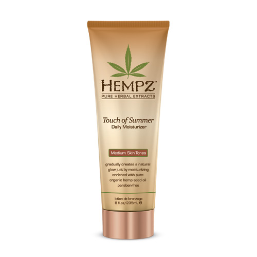 HEMPZ Молочко с бронзантом темного оттенка, для тела / Touch of Summer Medium Skin Tonea 235мл