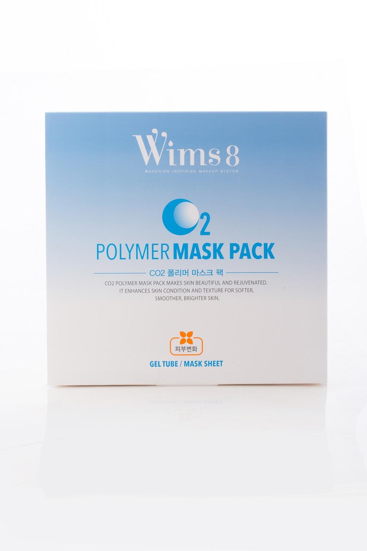 WIMS8 Набор Карбокситерапия для лица (гель 50 г, маска 5 шт) / СO2 Polymer Mask Pack