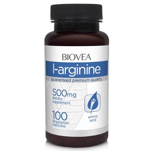 BIOVEA Добавка биологически активная к пище Л-аргинин / L-arginine 500 мг 100 капсул