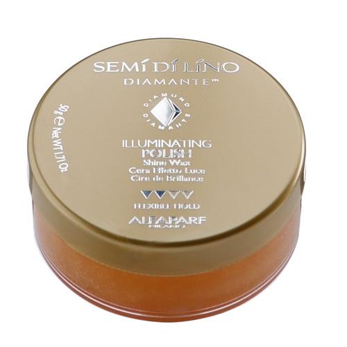 ALFAPARF MILANO Воск для волос придающий блеск / SDL STYLING ILLUMINATING POLISH 50млВоски<br>Воск с микрокристаллами бриллиантов для формирования причесок с выраженным глянцевым эффектом. Компоненты, входящие в состав этого косметического препарата, придают волосам эффект мокрых волос, при этом волосы остаются мягкими и легко поддающимися рестайлингу. Способ применения: cогреть небольшое количество продукта на ладони, а затем нанести на сухие волосы. Уложить пальцами каждую отдельную прядь или нанести тонким слоем на все волосы.<br><br>Объем: 50 мл<br>Класс косметики: Косметическая