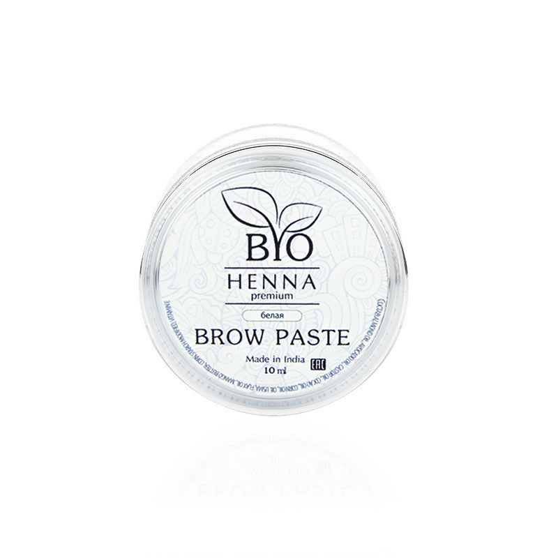 Купить BIO HENNA PREMIUM Паста для моделтрования бровей, белая 10 г