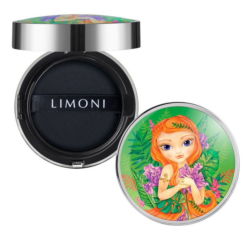 LIMONI Флюид кушон тональный SPF 35 PA++ № 02 / All Stay Cover Cushion Jungle Princess Medium