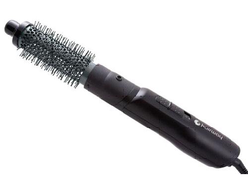 HAIRWAY Плойка-фен HW 32мм Titan-Tourmaline 700wПлойки - фены<br>Фен-щетка Hairway с титан-турмалиновым покрытием. Титан обеспечивает непревзойдённую прочность рабочей поверхности втулки и более бережное отношение к волосам. Турмалин   смесь кристаллов, которые при подогреве становятся естественным источником отрицательных ионов, что оказывает антистатическое воздействие и дает оптимальные результаты. Волосы легко укладываются, становятся блестящими и шелковистыми. 2 режима скоростиДиаметр 34 мм. Вращающийся шнур. Мощность - 700 W<br>