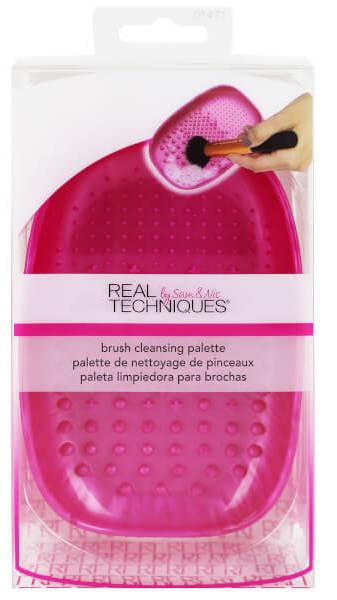 Real techniques палетка для очистки кистей / brush