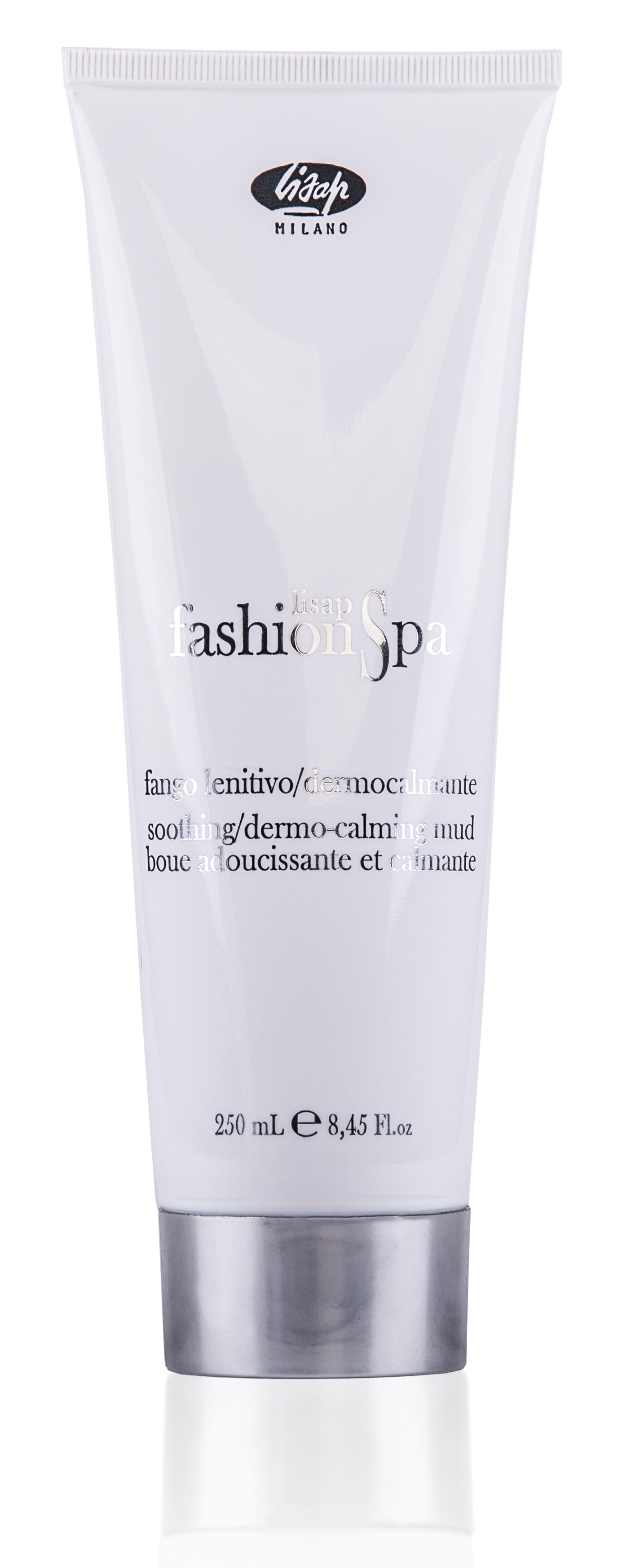 LISAP MILANO Маска грязевая смягчающая и успокаивающая для кожи головы / FASHION SPA 250млМаски<br>Сделана на основе белой глины и растительных глицеринов, которые мягко очищают и увлажняют кожу головы. Входящие в состав смесь чистых эфирных масел (розмарина, эвкалипта и шалфея), альфабисаболол и экстракт зантоксилума, снимают раздражение и обладают сильным коже-успокаивающим действием. Идеальное средство по уходу за чувствительной, проблемной, воспалённой или раздражённой кожей головы. Активные ингредиенты: белая глина, растительные глицерины, эфирные масла розмарина, эвкалипта, шалфея, альфабисаболол, экстракт зантоксилума. Способ применения: массажными движениями нанести на влажные волосы и кожу головы. Для равномерного распределения добавить немного теплой воды, мягко массируя, распределить его по всей длине волос. Выдержать 10 мин, поддерживая влажное тепло. Затем тщательно смыть. Убрать лишнюю влагу полотенцем.<br>