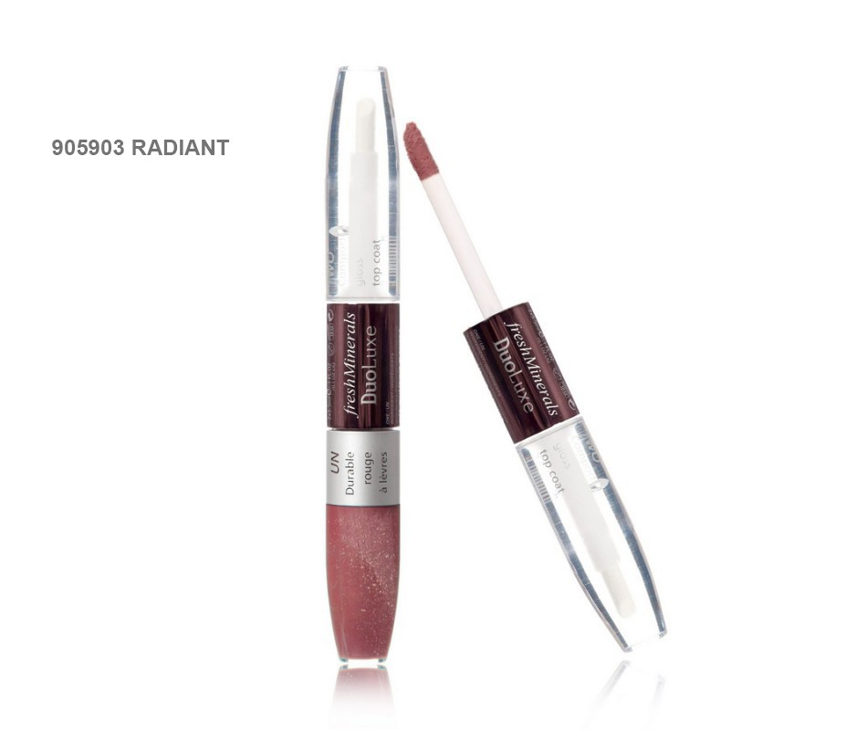 "FRESH MINERALS ����� ��� ��� � ������� �������� ""Radiant"" / Duo Luxe Lipgloss 2*3,5��"