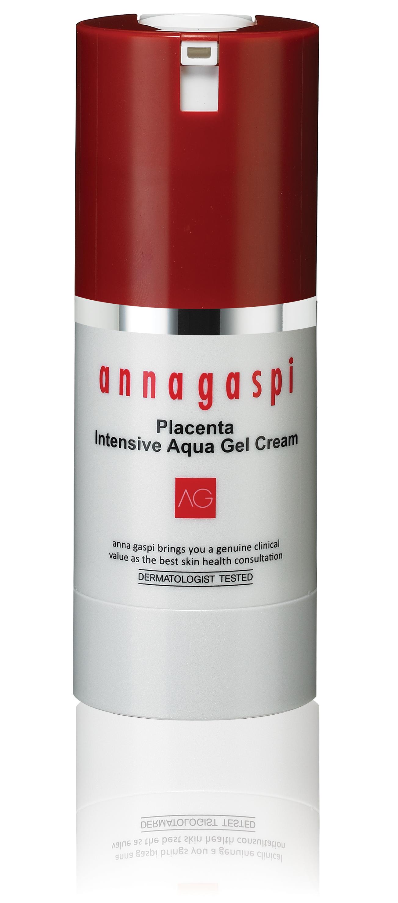 ANNAGASPI ����-���� � ��������� ��� ���������� � ������� / Placenta Intensive Aqua Gel Cream 50��