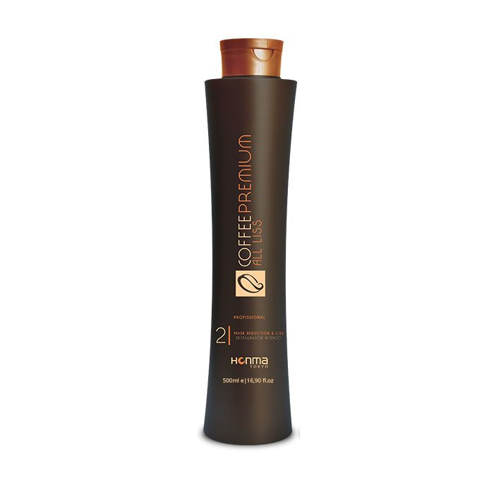 HONMA TOKYO Кератин для волос, максимальное восстановление и выпрямление / Coffee Premium All Liss 500 мл - Кератин