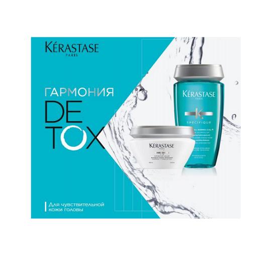 KERASTASE Набор для чувствительной кожи головы Детокс (шампунь-ванна Dermo-Calm 250 мл, маска Hydra-Apaisant 200 мл)