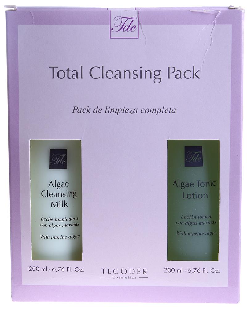 TEGOR Набор очищающий с водорослями / Algae Cleansing Pack COMPLEMENTARY 2*200млНаборы<br>Algae Cleansing Pack &amp;mdash; правильный уход для безупречной кожи! В набор входит 2 превосходных средства от Tegoder Cosmetics, которые идеально дополняют друг друга и обеспечивают глубокое очищение кожи. В составе набора: Очищающее молочко с водорослями Algae Cleansing Milk Algae Cleansing Milk мягко и бережно очищает кожу от макияжа и различных загрязнений, эффективно смягчая и увлажняя ее. Благодаря входящим в его состав морским водорослям и экстракту алоэ средство оказывает глубокое регенерирующее, противовоспалительное и успокаивающее действие, нормализует работу сальных желез, восстанавливает гидролипидный баланс кожи, укрепляет стенки сосудов, насыщает клетки влагой и кислородом, а также ценными витаминами, минералами и микроэлементами. Лосьон-тоник с водорослями Algae Tonic Lotion  Algae Tonic Lotion великолепно очищает кожу от остатков косметических средств и других загрязнений, восстанавливая ее естественный РН-баланс и возвращая чувство комфорта, свежести и чистоты, а также идеально подготавливает кожу к дальнейшему уходу и способствует лучшей впитываемости активных компонентов других препаратов. Натуральные природные компоненты в составе средства, такие как розовая вода, экстракт алоэ, морские водоросли и др., оказывают поистине целебное воздействие: успокаивают, питают и увлажняют кожу, повышают ее упругость и эластичность, обладают противоотечным, тонизирующим и противовоспалительным действием, укрепляют стенки сосудов, устраняют зуд, сухость и раздражение, снижают повышенную чувствительность кожных рецепторов, замедляют процессы старения и увядания кожи. Применение: Использовать утром и вечером.Сначала очистить кожу очищающим молочком с водорослями Algae Cleansing Milk. Небольшое количество молочка развести водой до гелевой консистенции, круговыми массажными движениями нанести на кожу лица. Смыть до полного ощущения чистоты. Затем протереть кожу лосьоном-тони