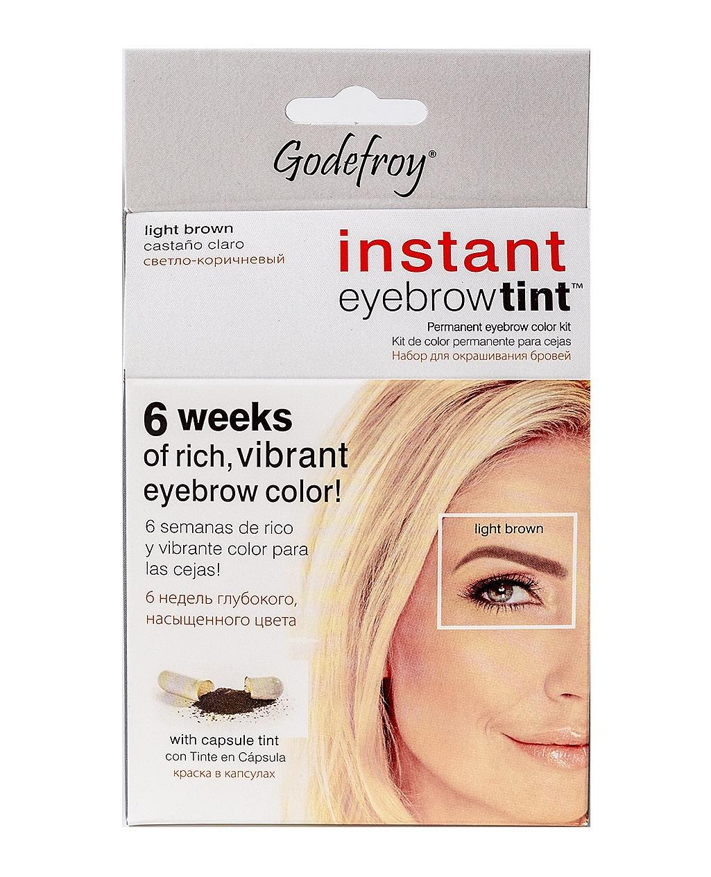 GODEFROY Краска-хна в капсулах для ресниц и бровей, набор (св-корич) 15 шт/ Godefroy Eyebrow Tint Light Brown