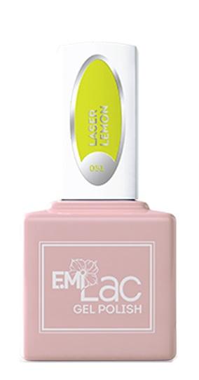Купить E.MI 051 NEON гель-лак для ногтей, Лазерный лимон / E.MiLac 6 мл, Зеленые