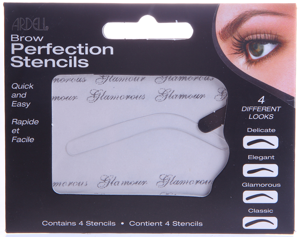 ARDELL Трафареты для бровей / Brow Perfection Stencils 4шт карандаш для бровей ardell mechanical brow pencil blonde цвет blonde variant hex name a88a78