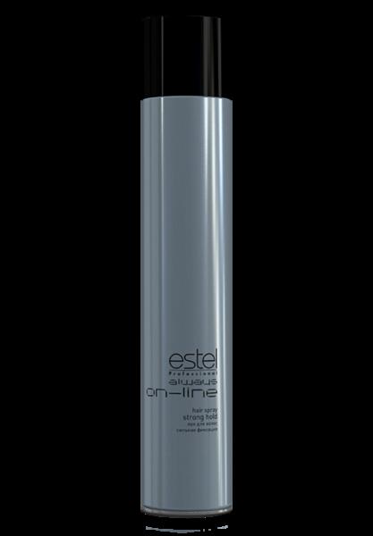 ESTEL PROFESSIONAL Лак для волос сильной фиксации / Always On-Line 100млЛаки<br>Лак ESTEL always ON-LINE сильной фиксации позволяет создавать прически из длинных волос по всем направлениям конкурсных номинацийДополнительно может быть использован в технической номинации.Незаменим для работы в салоне при создании стилизованных укладок и причесок. Обладая надежной фиксацией, сохраняет внутреннюю структуру волоса.Придает естественный блеск. Результат: сильная фиксация, больше блеска, не склеивает волосы, легко счесывается,не образует налета. Способ применения: хорошо встряхните флакон, распылите лак на волосы по всей длине<br><br>Объем: 100 мл