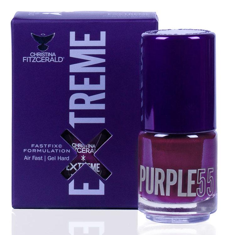 Купить CHRISTINA FITZGERALD Лак для ногтей 55 / PURPLE EXTREME 15 мл, Фиолетовые