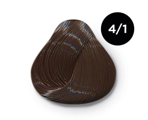 Купить OLLIN PROFESSIONAL 4/1 краска для волос, шатен пепельный / OLLIN COLOR 100 мл