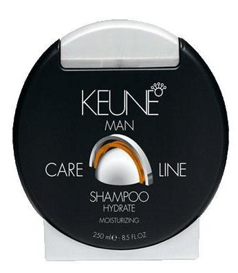 KEUNE Шампунь увлажняющий Кэе Лайн Мен / CL HYDRATE SHAMPOO 250млТело<br>Шампунь увлажняющий разработан специалистами голландской компании Keune для интенсивного ухода за сухими и поврежденными волосами. Входящий в состав шампуня экстракт бамбука обладает превосходными регенерирующими свойствами, глубоко питает волосы. Горный хрусталь оказывает укрепляющее действие. Природные минералы интенсивно питают волосы и кожу головы, а также сглаживают кутикулу волоса. Карбо-гидраторы способствуют восстановлению влажностного баланса. Регулярное использование увлажняющего шампуня от Keune наполнит ваши волосы живительной влагой, сделает их более сильными, упругими и блестящими.  Активный состав: Природные минералы, экстракт бамбука, горный хрусталь, карбо-гидраторы. Применение: Нанесите необходимое количество увлажняющего шампуня на влажные волосы, вспеньте, помассируйте в течение 1-2 минут, после чего тщательно смойте водой.<br><br>Объем: 250<br>Пол: Мужской