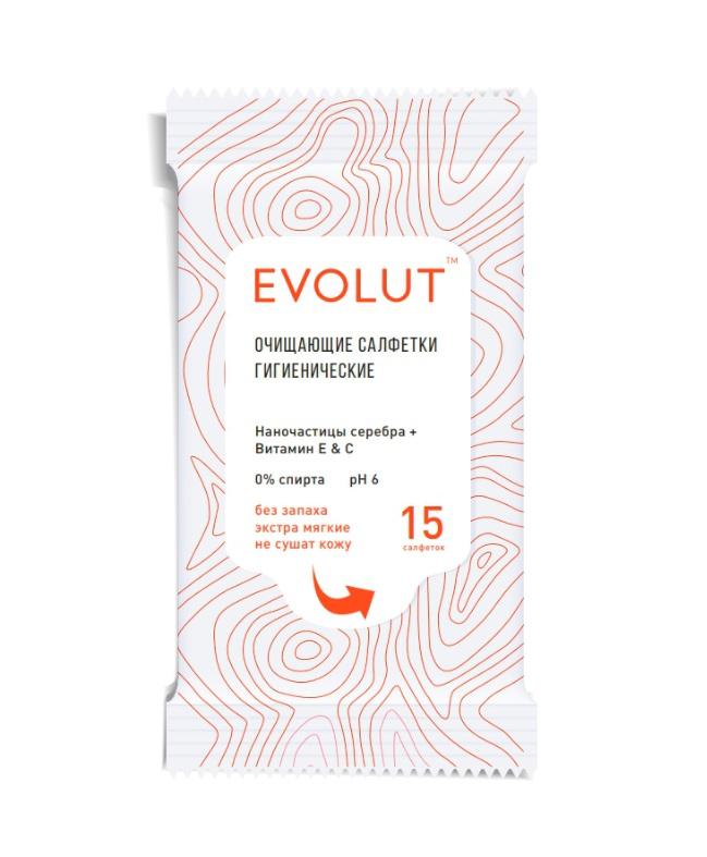 Купить EVOLUT Салфетки гигиенические очищающие 15 шт