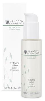 JANSSEN Эмульсия интенсивно увлажняющая для упругости кожи / Hydrating Lotion BIOCOSMETICS 50млЭмульсии<br>Hydrating Lotion   это увлажняющая эмульсия, укрепляющая гидролипидную мантию изнутри. Экстракт белого люпина, входящий в состав, способствует улучшению сцепления между клетками и, таким образом, защищает от избыточной потери влаги. Гиалуроновая кислота интенсивно увлажняет, натуральные экологически чистые масла обеспечивают полноценный уход, не оставляя на коже жирной пленки. Масло аргании, богатое ненасыщенными жирными кислотами и витамином Е, поддерживает натуральную гидролипидную мантию и защищает от свободных радикалов, предупреждая преждевременное старение. Регулярное применение Hydrating Lotion позволит сохранить красоту и продлить молодость кожи. Активные ингредиенты: масло аргании*, гиалуроновая кислота с короткой и длинной цепью, экстракт белого люпина, масло макадамии*. * Выращено на экологически чистых плантациях. Способ применения: наносите Hydrating Lotion на чистую кожу лица утром и/или вечером. Можно использовать в качестве базы под макияж. В салоне применять согласно регламенту ухода.<br>