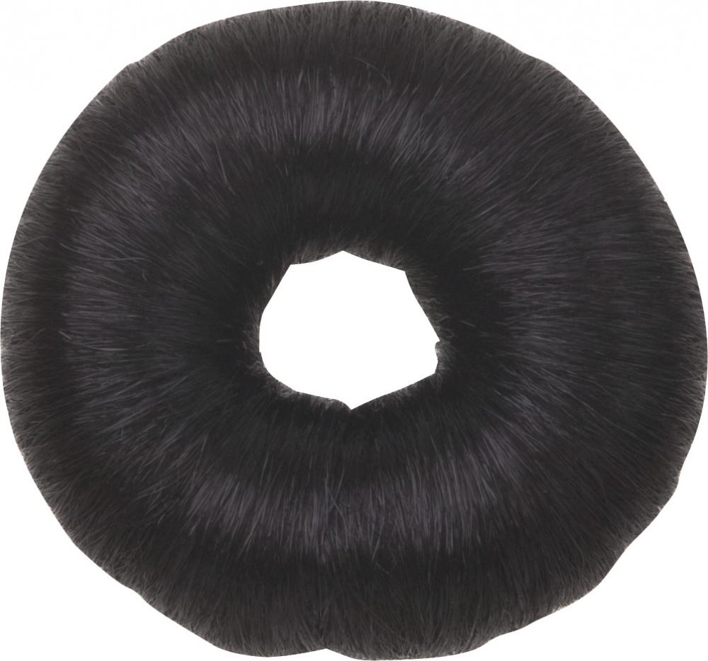 DEWAL PROFESSIONAL Валик для прически, искусственный волос, черный d 8 см - Особые аксессуары