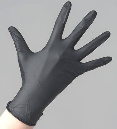 ЧИСТОВЬЕ Перчатки нитриловые черные S Safe & Care 100 шт - Перчатки