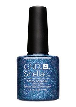 CND 91261 покрытие гелевое / Starry Sapphire SHELLAC Starsrtuck 7,3 мл cnd 91259 покрытие гелевое blushing topaz shellac starsrtuck 7 3 мл