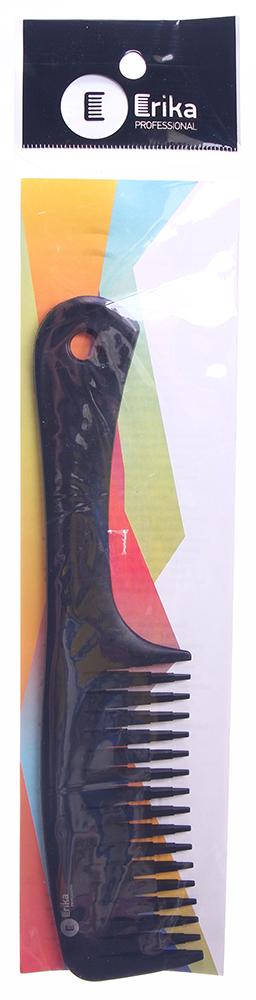 ERIKA Расческа углепластикРасчески<br>Сверхпрочная расческа, термостойкая, с ручкой, широкие V-образные зубцы для начеса и креативных причесок. Erika Professional представляет сверхпрочные парикмахерские расчески из инновационного материала. Особая молекулярная структура композитного пластика с добавлением карбона и высококачественного нейлона обеспечивает изделиям невероятную термостойкость (230 &amp;deg;С) и прочность при сохранении эластичности.<br>