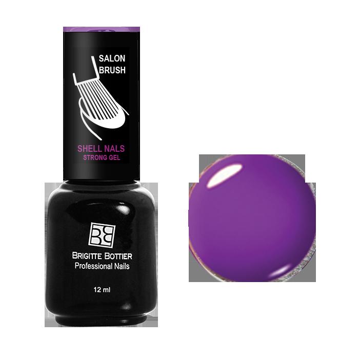 BRIGITTE BOTTIER 990 гель-лак для ногтей, неоновый фиолетовый / Shell Nails 12 мл