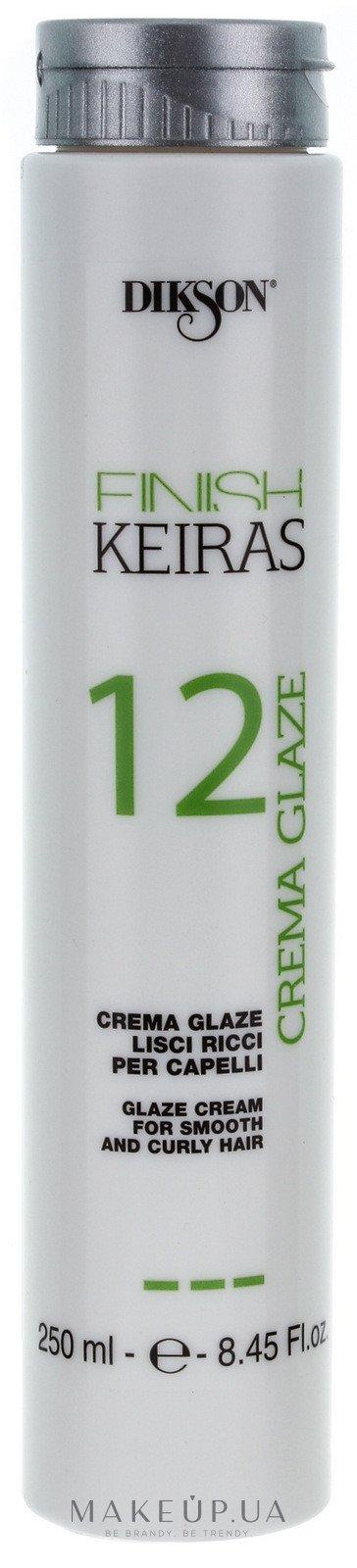 DIKSON Глазурь для гладких / кудрявых волос / FINISH CREMA GLAZE 12 250 мл