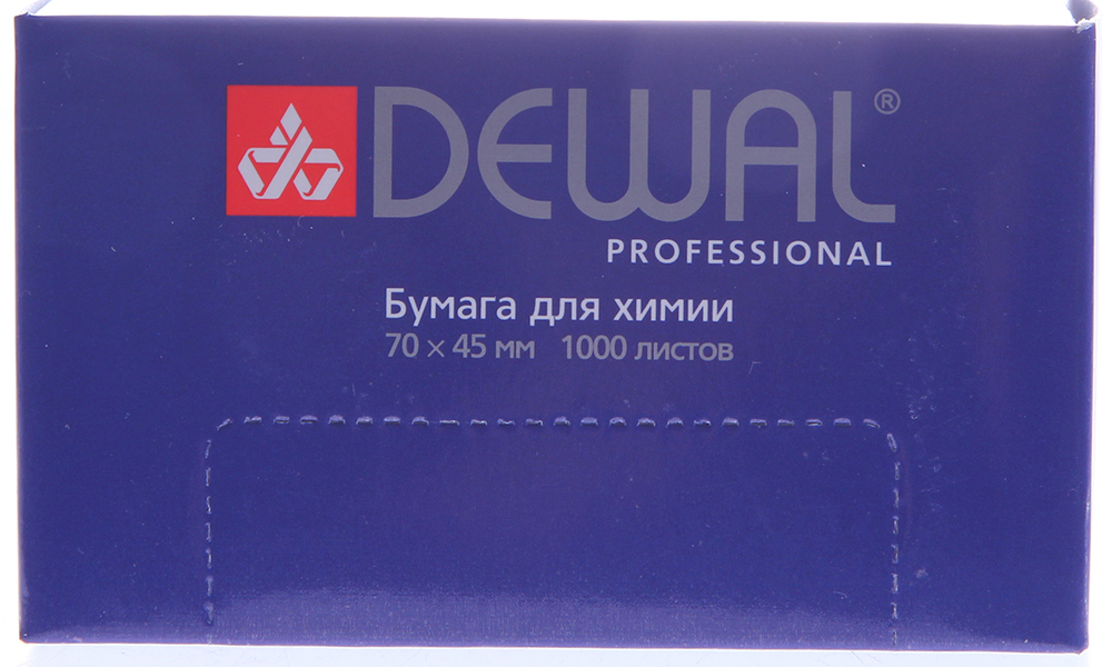 ЧИСТОВЬЕ Бумага д/химии 7,0*4,5 см DEWAL